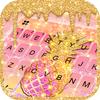 ikon Tema Keyboard Glitter Drop Pineapple