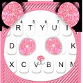 Glitter Pink Panda Keyboard Theme