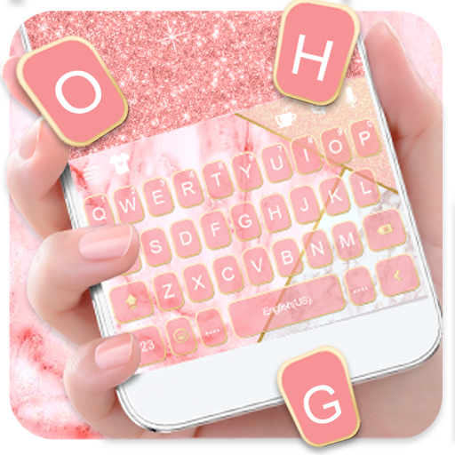 Glitter Marble Keyboard Theme