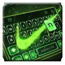Klawiatura motywów Green Neon Check aplikacja