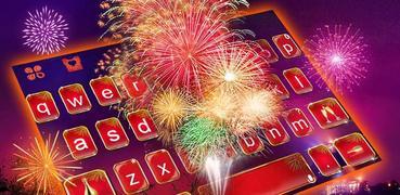 Happy New Year 2021 Keyboard Background