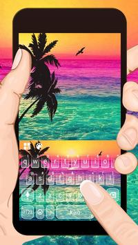 Holiday Coconut Sunset poster