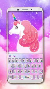 Holographic Cute Unicorn poster