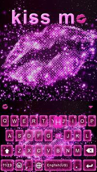 Kiss Me Emoji Keyboard Theme poster