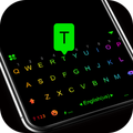 Led Neon Black Keyboard Theme