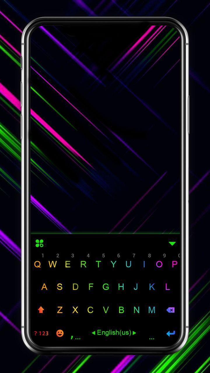 Led Neon Black Keyboard Theme For Android Apk Download