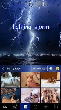 Lightingstorm Toetsenbord Thema screenshot 4