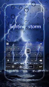 Lightingstorm Keyboard Theme screenshot 1