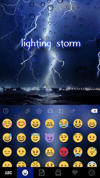 Lightingstorm Toetsenbord Thema screenshot 3