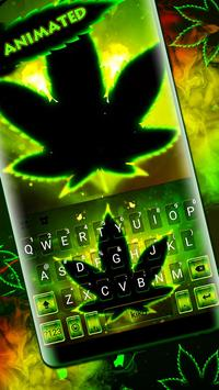 Live Neon Green Leafs Keyboard Theme poster