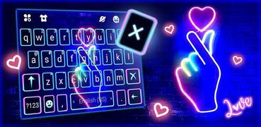 Love Heart Neon Wallpapers Keyboard Background
