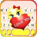 Love You Emoji Keyboard Theme