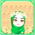 Muslim Flower Girl Keyboard Theme
