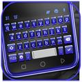 3d Blue Tech Keyboard Theme