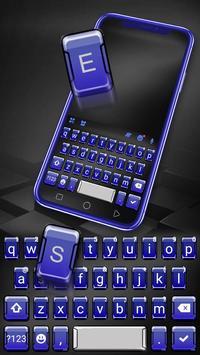 Chủ Đề Bàn Phím 3d Blue Tech ảnh chụp màn hình 1