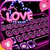 Tema Keyboard Neon Love ícone