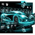 最新版、クールな Neon Tech Car のテーマキーボード