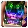 最新版、クールなNeon Tigerのテーマキーボード アイコン