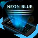 Klawiatura motywów Neonblue aplikacja