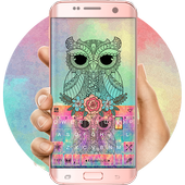 Colorful Owl Keyboard Theme icon
