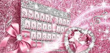Pink Bow Diamond Luxury Keyboard Theme
