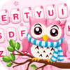 Pink Cute Owl-icoon