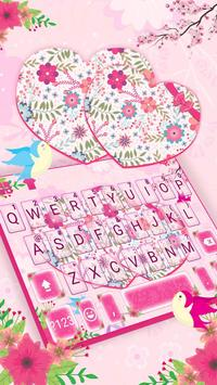 Pink Floral Hearts poster