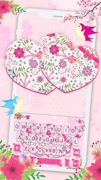 Pink Floral Hearts screenshot 1