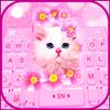Klawiatura motywów Pink Flowers Kitten ikona