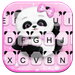 Tema Keyboard Pink Girly Panda