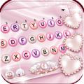 Pink Pearl Luxury Heart Keyboard Theme