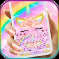 Rainbow Rose Unicorn Keyboard Theme
