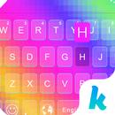 Klawiatura motywów Rainbow aplikacja