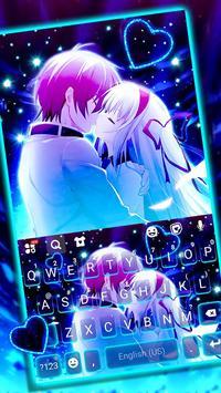 ثيم لوحة المفاتيح Romantic Neon Kiss الملصق