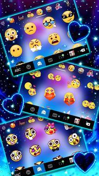 ثيم لوحة المفاتيح Romantic Neon Kiss تصوير الشاشة 3