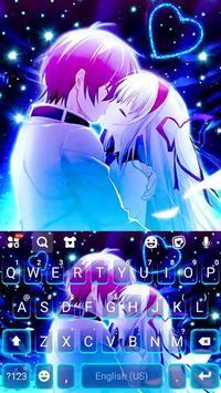 ثيم لوحة المفاتيح Romantic Neon Kiss تصوير الشاشة 4