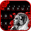 Skull Bride Mask Keyboard Theme