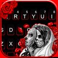 最新版、クールな Skull Bride Mask のテーマキーボード