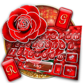 Silver Glitter Red Rose icon