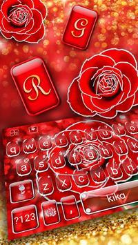 Silver Glitter Red Rose screenshot 1