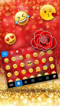 Silver Glitter Red Rose screenshot 2