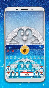最新版、クールな Silver Robot Cat のテーマキーボード ポスター