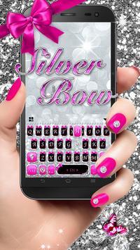 Silver Bowknot Keyboard Theme poster