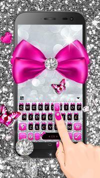 Silver Bowknot Keyboard Theme screenshot 2