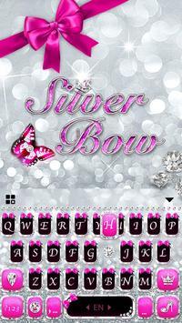 Silver Bowknot Keyboard Theme screenshot 3