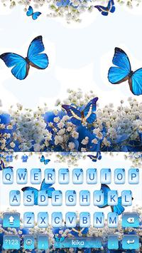 Spring Blue Butterfly poster