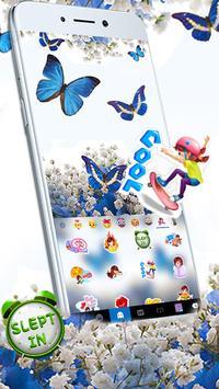 Spring Blue Butterfly screenshot 2