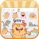 Kitty Cat Life Emoji Stickers APK Android