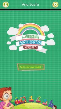 1. Sınıflar Matematik Testleri poster