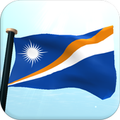 Marshall Islands Flag 3D Free icon